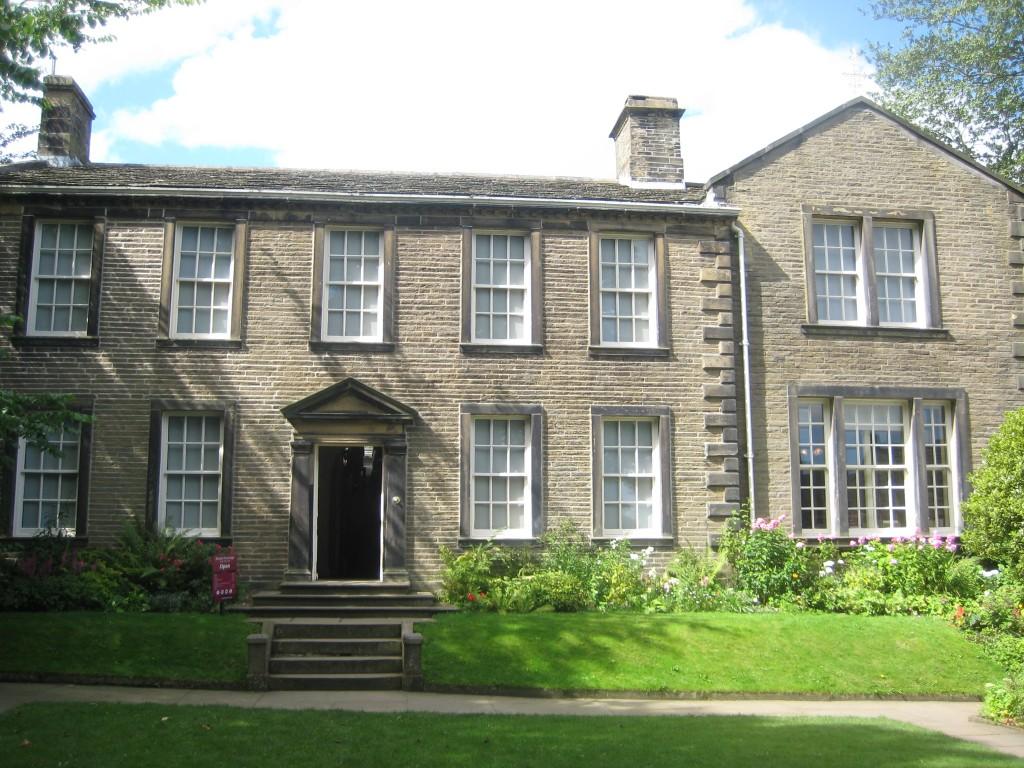 Brontëfamiljens hus som nu är omgjort till musée
